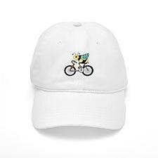 Bee on a Bike Baseball Cap