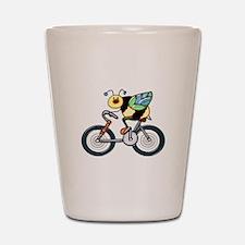 Bee on a Bike Shot Glass