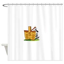 Ants Raiding a Picnic Basket Shower Curtain