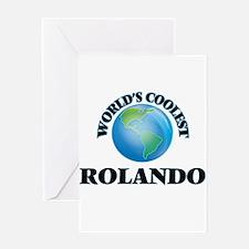 World's Coolest Rolando Greeting Cards