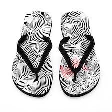 Be Different Zebra Flip Flops