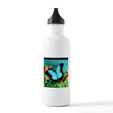 Blue Butterfly on Oran Sports Water Bottle