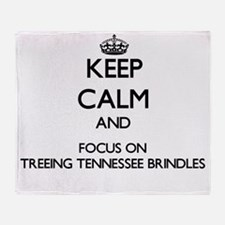 Keep calm and focus on Treeing Tenne Throw Blanket