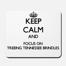 Keep calm and focus on Treeing Tennessee Mousepad