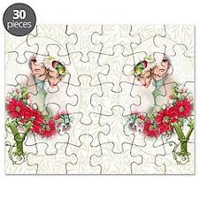 Monogram Y Christmas Couple Puzzle