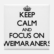 Keep calm and focus on Weimaraners Tile Coaster