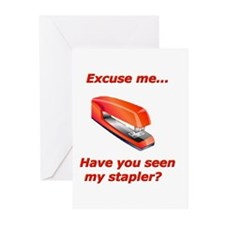 Have you seen my stapler? Greeting Cards (Package