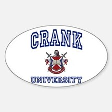 CRANK University Oval Decal
