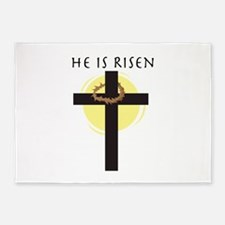 He Is Risen 5'x7'Area Rug