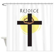 Rejoice Shower Curtain