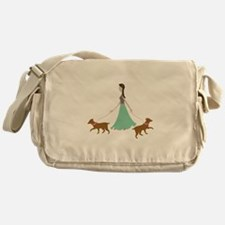 Walking Dogs Messenger Bag