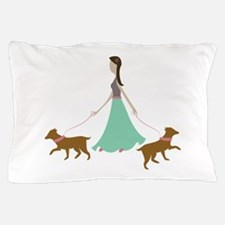 Walking Dogs Pillow Case