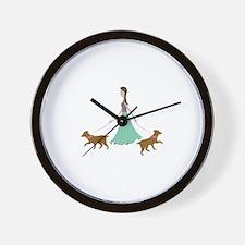 Walking Dogs Wall Clock