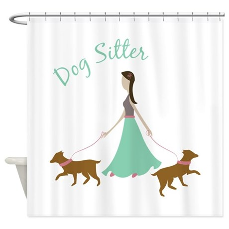 Dog Sitter Shower Curtain By Windmill26