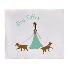 Dog Sitter Throw Blanket