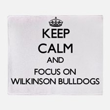 Keep calm and focus on Wilkinson Bul Throw Blanket