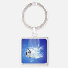 Soccer with water slpash Keychains