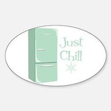 Retro Refrigerator Chill Decal