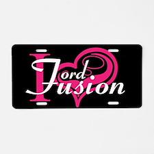 Love My Fusion Aluminum License Plate