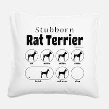 Stubborn Rattie v2 Square Canvas Pillow