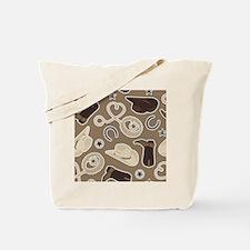Cute Brown Cowboy Theme Pattern Tote Bag