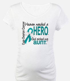 Heaven Needed Hero Ovarian Cance Shirt