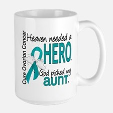 Heaven Needed Hero Ovarian Cancer Large Mug