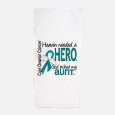 Heaven Needed Hero Ovarian Cancer Beach Towel