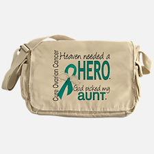 Heaven Needed Hero Ovarian Cancer Messenger Bag