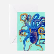Octopus Splash Greeting Cards