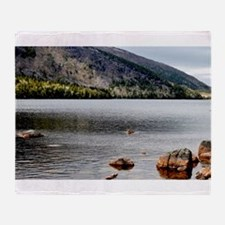 Jordan Pond, Bar Harbor, ME Throw Blanket