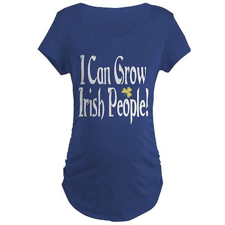 I Can Grow Irish People! Dark Maternity T-Shirt