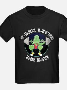 T-Rex Loves Leg Day! T-Shirt