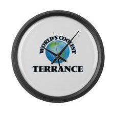 World's Coolest Terrance Large Wall Clock