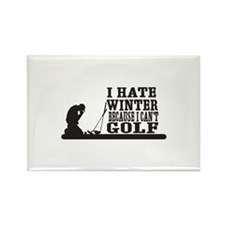 I hate winter because I cant golf Magnets