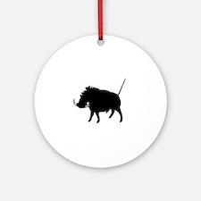 Wart Hog Ornament (Round)