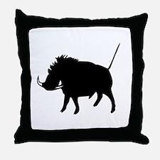 Wart Hog Throw Pillow