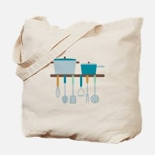 Kitchen Cooking Utensils Pots Tote Bag