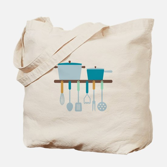 Kitchen Cooking Utensils Pots Tote Bag