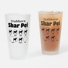 Stubborn Shar Pei v2 Drinking Glass