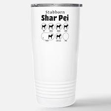 Stubborn Shar Pei v2 Stainless Steel Travel Mug