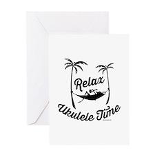 Relax Ukulele Time Greeting Cards