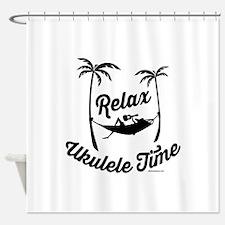 Relax Ukulele Time Shower Curtain