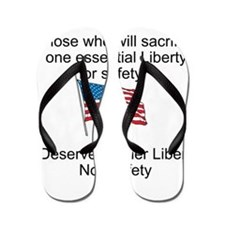 Liberty and Safety Flip Flops