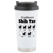 Stubborn Shih Tzu v2 Travel Coffee Mug