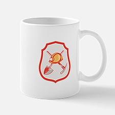 Miner Hardhat Spade Pick Axe Shield Retro Mugs