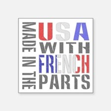 Made in USA French Parts Sticker