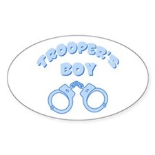 Trooper's Boy Oval Decal
