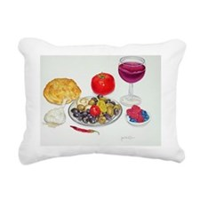 Wine and Olives Rectangular Canvas Pillow