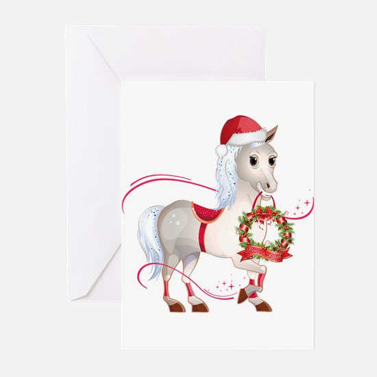 Peace on Earth Christmas Horse Greeting Cards